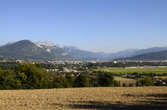 Overview of Annecy city and lake Stock Photo