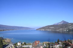 Overview of Annecy lake, Savoy, France Stock Photo
