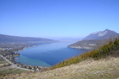 Overview of Annecy lake, Savoy, France Stock Photos