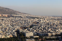 Overview of Athens Royalty Free Stock Photo