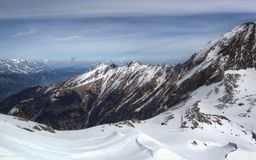 Overview of Austrian ski resort in the Alps. Of Austria Stock Images