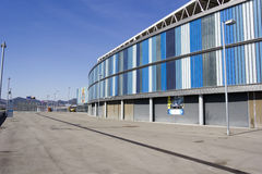 Overview back of RCD Espanyol stadium Royalty Free Stock Images