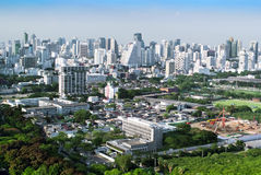 Overview of a Bangkok's business and residential areas Royalty Free Stock Image