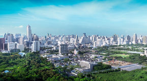 Overview of a Bangkok's business and residential areas Stock Images