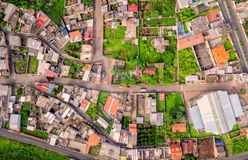 Overview Of Banos De Agua Santa, Ecuador royalty free stock images