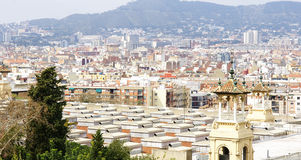 Overview of Barcelona from Montjuic Royalty Free Stock Image