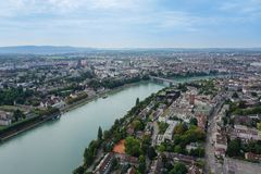 Overview of Basel Switzerland royalty free stock photography