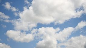 Blue sky with moving clouds. Environment. stock video footage