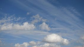Blue sky with moving clouds. Environment. stock video