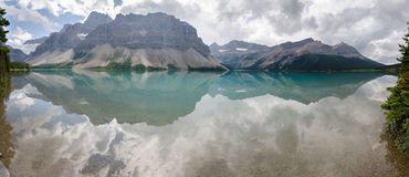Overview of Bow lake Royalty Free Stock Photography