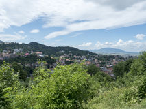 Overview of Brasov, Romania royalty free stock photography