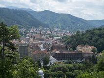 Overview of Brasov, Romania stock images