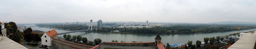 The overview of Bratislava. Slovakia Royalty Free Stock Images