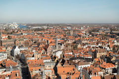 Overview of Bruges, Belgium Royalty Free Stock Photography