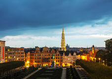 Overview of Brussels, Belgium Royalty Free Stock Images