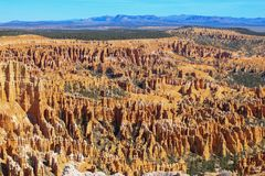 Overview of the Bryce Canyon stock image