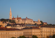 Overview of Budapest as seen from Szechenyi bridge Stock Images
