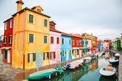 Overview of the Burano canal Royalty Free Stock Images