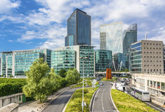 Overview of the bussines district in Paris, France. Business district of La Defense and in the commune of Puteaux, to the west of Paris, France Royalty Free Stock Photo