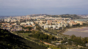 Overview of Cagliari and the pond of Molentargius - Sardinia Royalty Free Stock Images