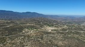 Overview from Cahuilla Tewanet Vista Point, CA, USA. Panorama of Pines to Palms Highway at Cahuilla Tewanet Vista Point. View of the valley and mountains on the stock video