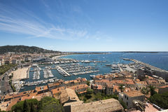 Overview of Cannes, France Royalty Free Stock Photo