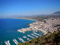 Overview of Castellammare del Golfo Stock Images