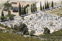 Overview of a cemetery in the Western Cape Southern Africa Stock Photography