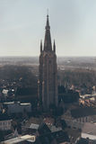 Overview of Church of Our Lady in Bruges Stock Photo