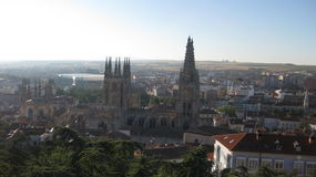 Overview of the City of Burgos, Spain. Stock Image