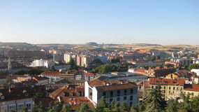 Overview of the City of Burgos, Spain. Stock Photos