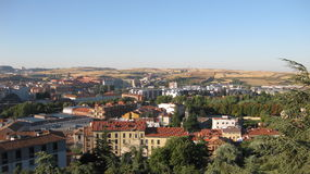 Overview of the City of Burgos, Spain. Stock Photography