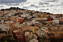 Overview of the city. Overview of a beautiful city in Spain royalty free stock images