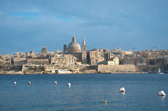 Overview of the city of Valletta, Malta, from the town of Sliem Stock Images