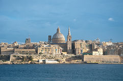 Overview of the city of Valletta, Malta, from the town of Sliem Stock Photos