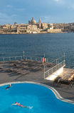 Overview of the city of Valletta, Malta, from the town of Sliem Stock Photography