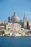 Overview of the city of Valletta, Malta, from the town of Sliem Royalty Free Stock Photography