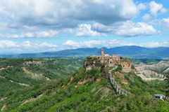Overview of Civita di Bagnoregio Royalty Free Stock Images