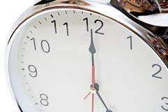 Overview of a clock face Stock Photo