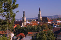 Overview of Cluj Napoca royalty free stock images