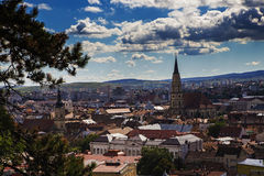 Overview of Cluj-Napoca Stock Photo