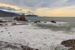 Overview of the coast Gaztelugatxe Royalty Free Stock Photo