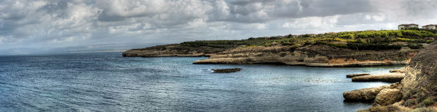 Overview Coast Of Porto Torres Stock Images