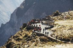 Overview in the Colca canyon,Peru royalty free stock photos
