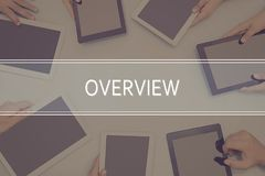 OVERVIEW CONCEPT Business Concept. royalty free stock images