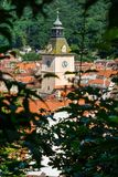 Overview of concil house in Council Square of Brasov, Transylvania, Romania Stock Image