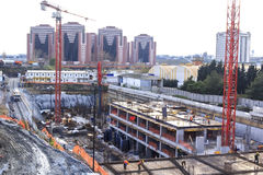 Overview of a construction site stock image