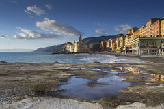 Overview of the costs of Camogli Stock Photography