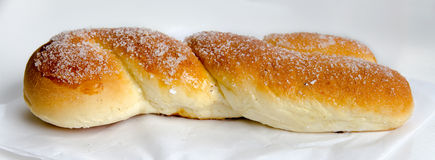 Overview of a croissant. Shaped braid fried in Palermo, Sicily Royalty Free Stock Images