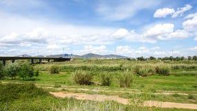 Overview of the Delta del Llobregat Stock Photos